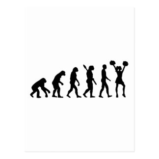 Evolution Cheerleader Postcard