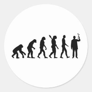 Evolution Chemist Round Sticker