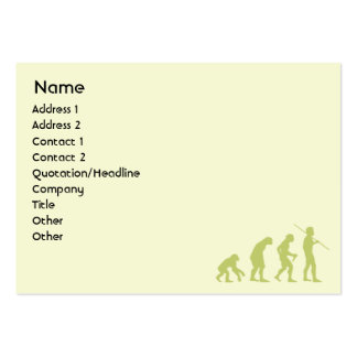 Evolution - Chubby Business Cards