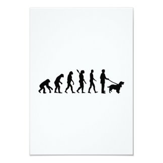 Evolution Cocker Spaniel 9 Cm X 13 Cm Invitation Card