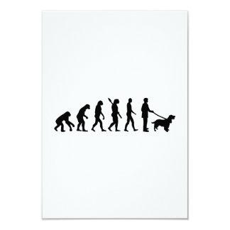 Evolution Cocker Spaniel 3.5x5 Paper Invitation Card