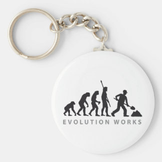 evolution construction more worker basic round button key ring