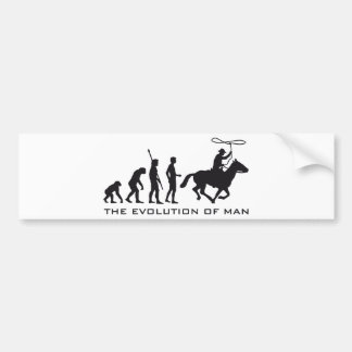 evolution cowboy bumper sticker