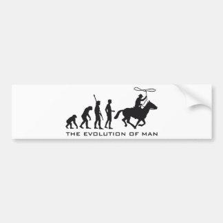 evolution cowboy bumper sticker