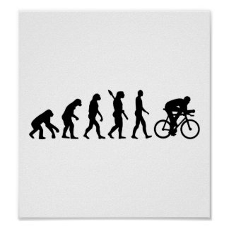 Evolution cycling bicycle poster