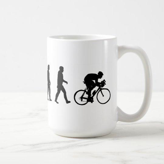 evolution cyclist cycling bicycle coffee mug