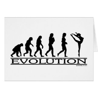Evolution - Dance Greeting Card