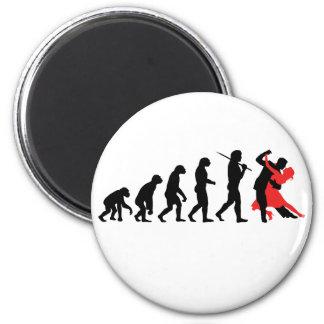 Evolution - Dancing 6 Cm Round Magnet