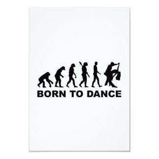 Evolution dancing born to dance 3.5x5 paper invitation card