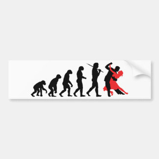 Evolution - Dancing Bumper Sticker