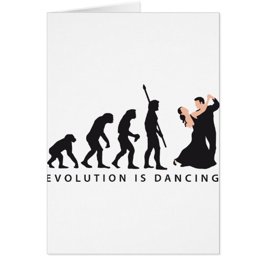 evolution dancing couple card