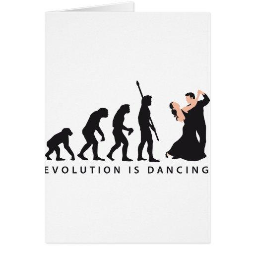 evolution dancing couple greeting card