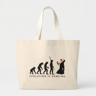 evolution dancing couple large tote bag