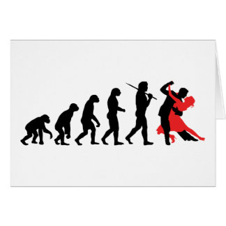 Evolution - Dancing Greeting Card