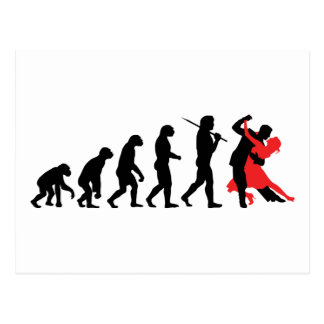 Evolution - Dancing Postcard