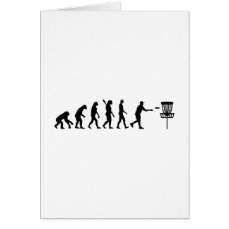Evolution Disc golf Greeting Card