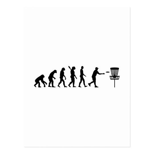 Evolution Disc golf Postcard
