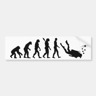 Evolution Diving Bumper Sticker