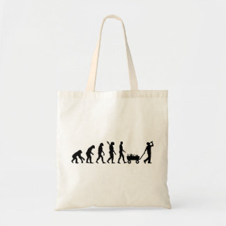 Evolution drinking budget tote bag