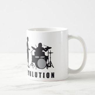 evolution drummer basic white mug