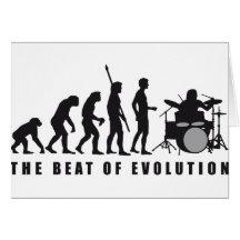 evolution drummer grußkarte