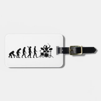 Evolution drummer luggage tag