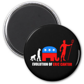 evolution Eric Cantor Fridge Magnets
