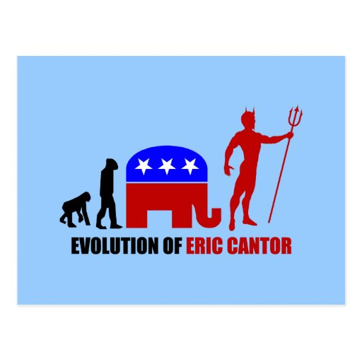 evolution Eric Cantor Post Cards