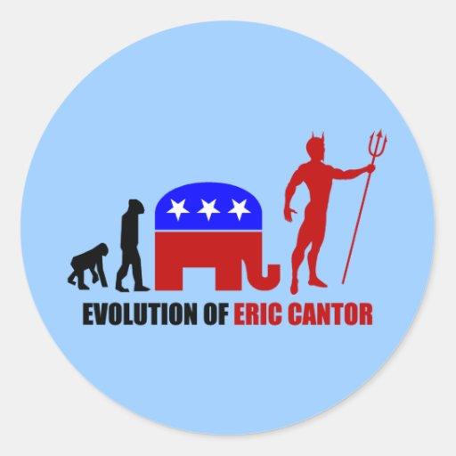 evolution Eric Cantor Sticker