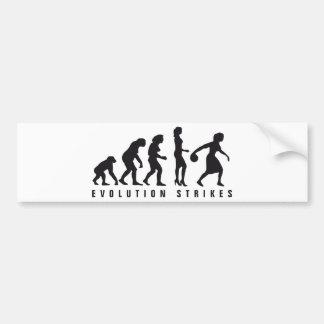 evolution female bowling bumper sticker