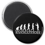 Evolution - Female - Golf Fridge Magnet