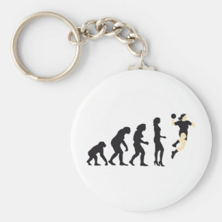 evolution female hand ball basic round button key ring