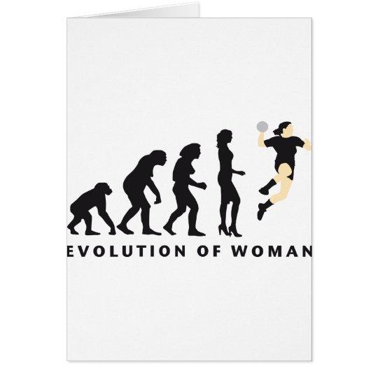 evolution female hand ball card