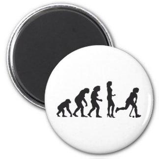evolution female hockey 6 cm round magnet