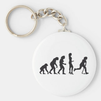 evolution female hockey basic round button key ring
