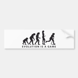 evolution female hockey bumper sticker
