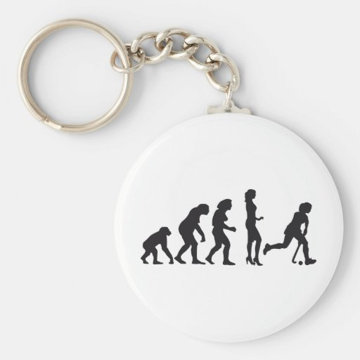 evolution female hockey key chain
