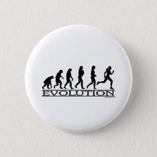 Evolution - Female Running 6 Cm Round Badge