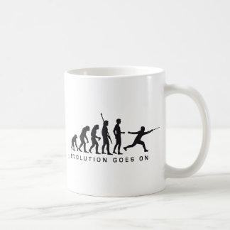 evolution fencer basic white mug