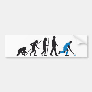 evolution field hockey more player bumper sticker