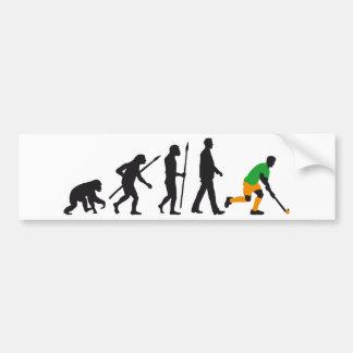 evolution field hockey more player bumper sticker