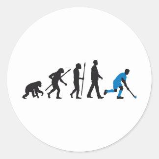 evolution field hockey more player classic round sticker