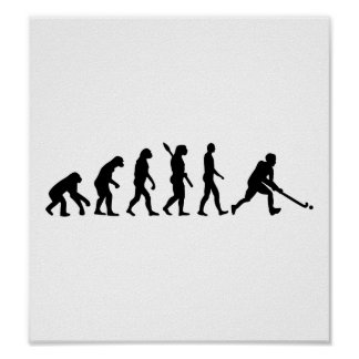 Evolution Field hockey Poster