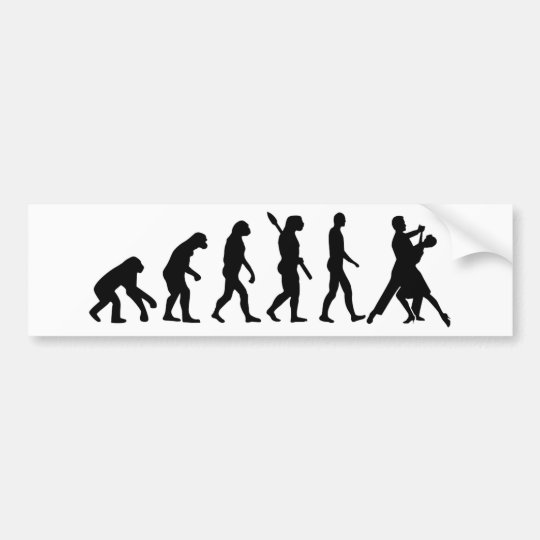 Evolution foxtrot dancing bumper sticker