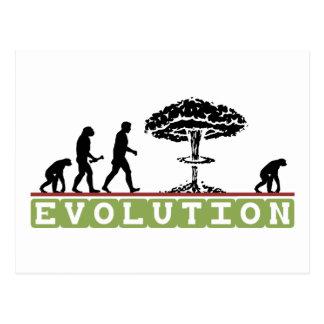 Evolution Funny Evolve Postcard