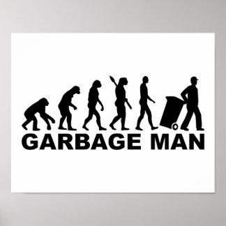 Evolution garbage man poster
