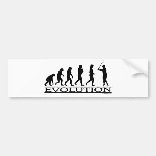 Evolution - Golf- Female Bumper Sticker