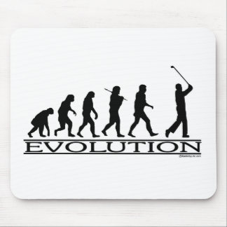Evolution - Golf - Man Mouse Mat