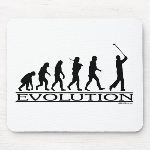Evolution - Golf - Man Mouse Pads