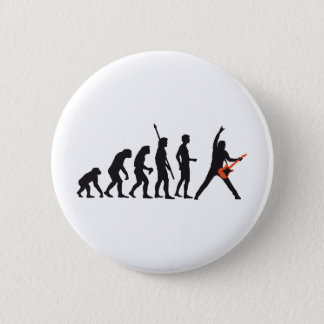 evolution guitar 6 cm round badge